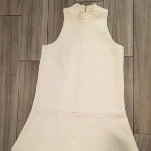 Abercrombie & Fitch White Dropped Waist Dress